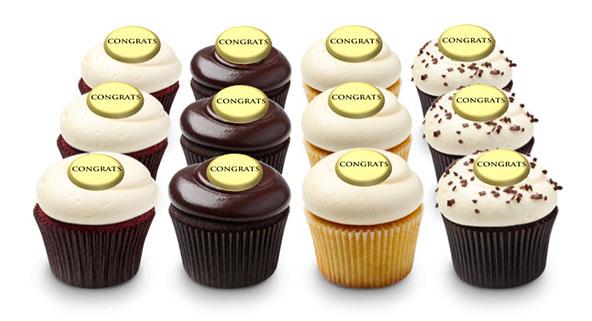 Happy Birthday Dozen Georgetown Cupcake